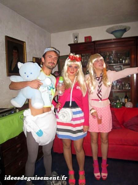 deguisement carnaval 3 personnes