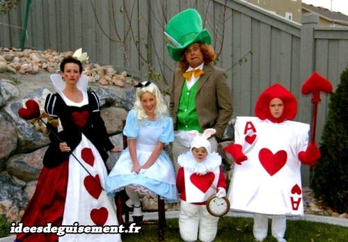 deguisement carnaval 4 personnes