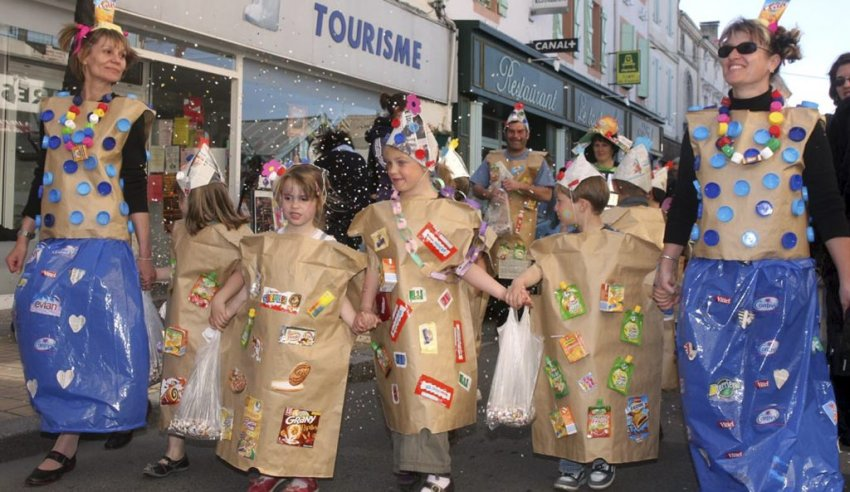 deguisement carnaval recyclage