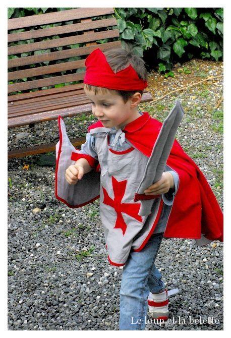 deguisement chevalier a coudre