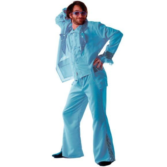 deguisement disco femme bleu