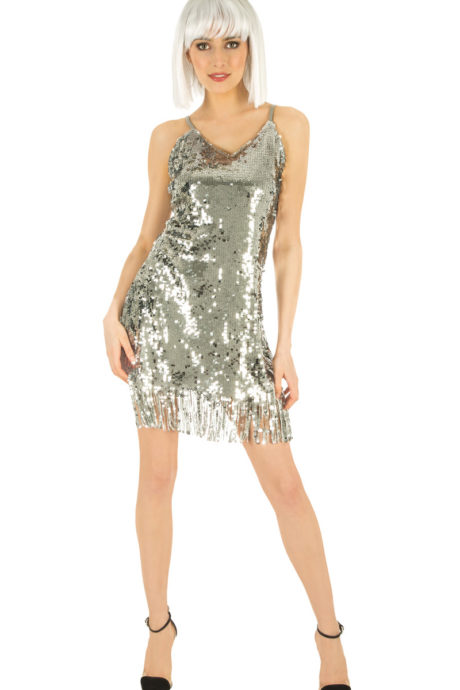 deguisement disco robe paillette