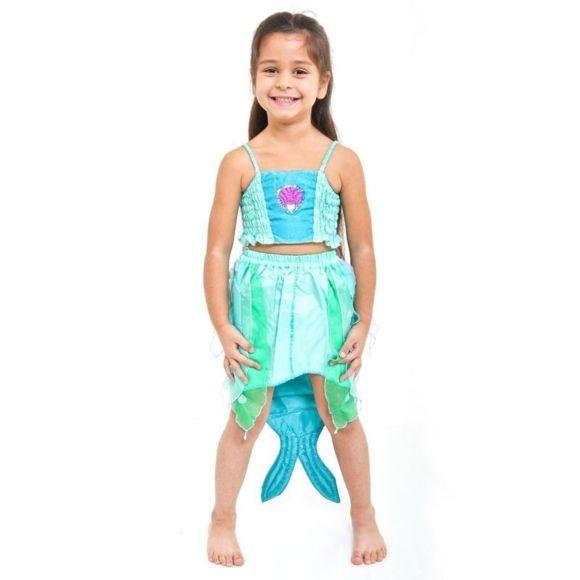 deguisement disco turquoise a sequins fille