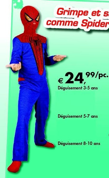 deguisement spiderman dreamland