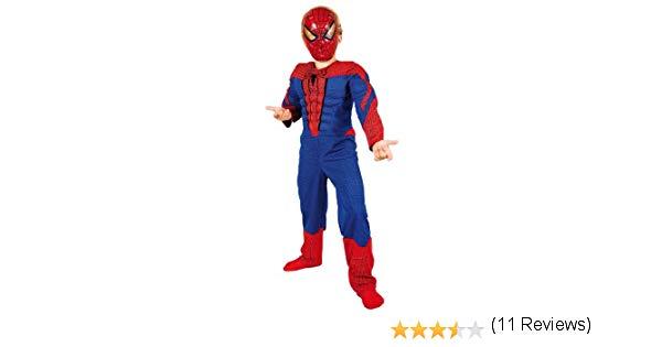 deguisement spiderman muscle 5-7 ans